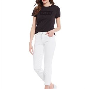 LEVI'S Perfectly Slimming 512 White Jeans 16